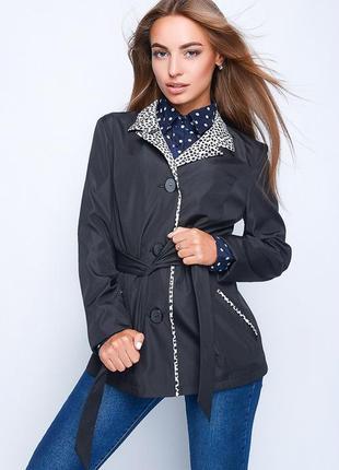 Женский тренч-плащ укороченный,пиджак демисезонный,плащевка