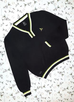Стильный черный мужской свитер silver lions henleys, размер 46...