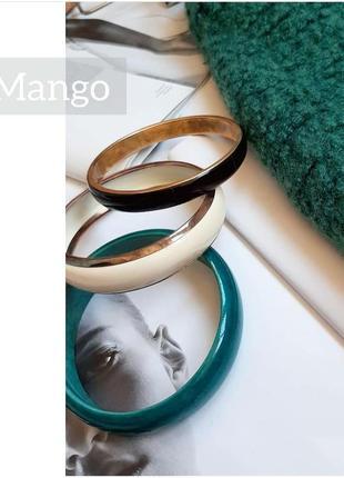 Набор браслетов mango браслеты с золотом зеленый черный коричн...