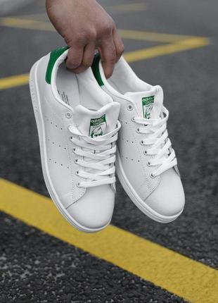 Распродажа! кеды adidas stan smith white green