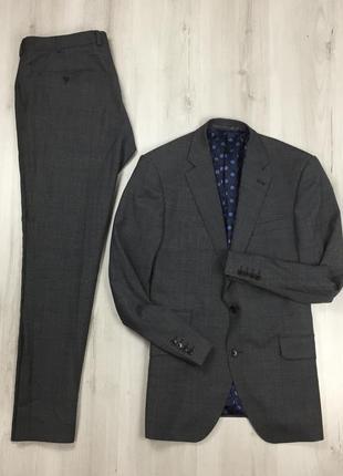 F0 костюм темно-серый turner&sanderson клетчатый шерстяной  пи...