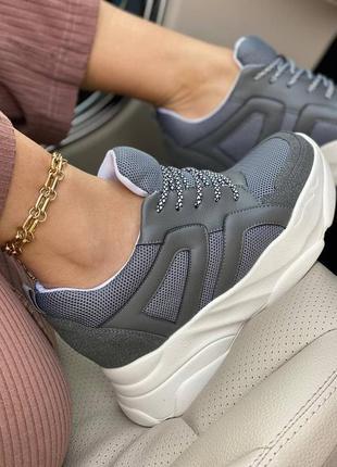Сникерсы женские, кроссовки на толстой подошве
