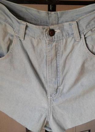 Шорты джинсовые с завышенной талией р 44