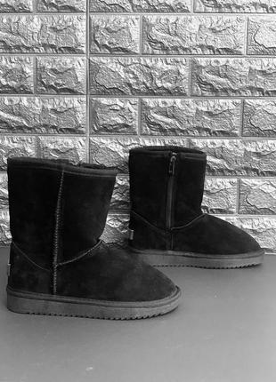 Женские замшевые зимние угги/ сапоги/ ботинки/ ugg на молнии