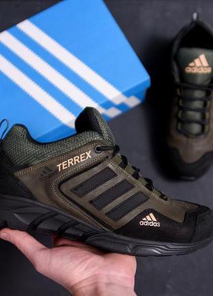 Мужские кожаные кроссовки adidas terrex green кроссовки мужски...