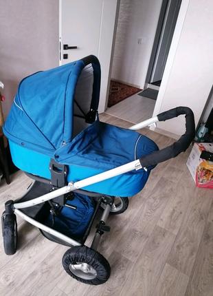 Продам польскую коляску Bebi beni  (люлька+летняя коляска).