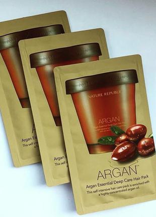 Маска для волос  Nature Republic Argan essential deep care hair p