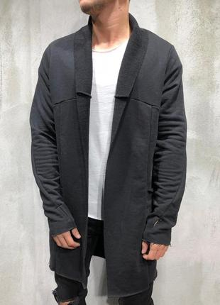 Кардиган мужской черный турция / кардіган чоловічий пальто нак...