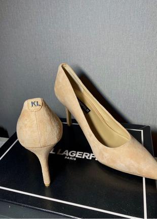 Замшевые туфли Karl Lagerfeld