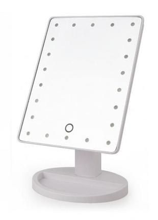 Одинарное зеркало для макияжа с подсветкой