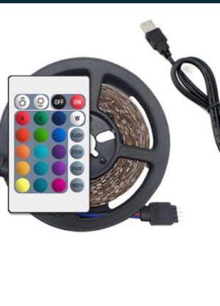 Светодиодная led лента 5050 rgb 12v Bluetooth USB цветная 5м + пу