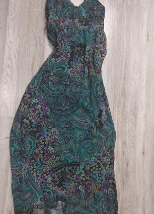 Роскошное платье с узором, в стиле этно, бохо, подчеркивает ли...