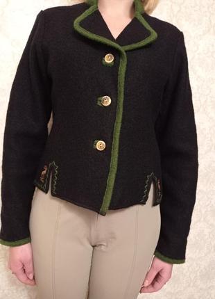 Куртка , жакет , 100% натуральная вареная шерсть , австрия m ,...