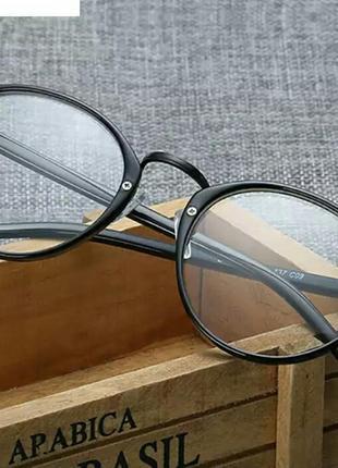 Имиджевые очки черные матовые