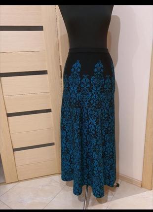 Длинная, теплая юбка трапеция, размер 48/50