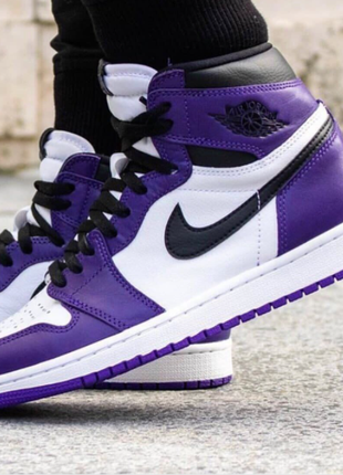 Мужские кроссовки Nike Air Jordan retro 1 White purple