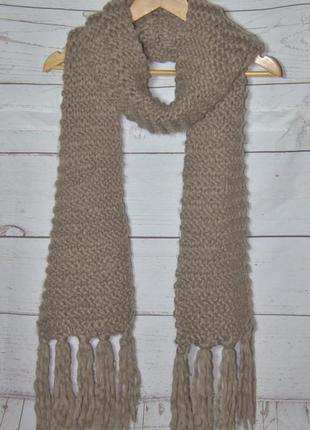 Класный теплющий шарф крупной вязки