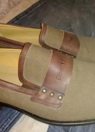 Туфли Cesare Paciotti, 44р., 30 см, кожа+ткань, СУПЕРОВЫЕ. Италия