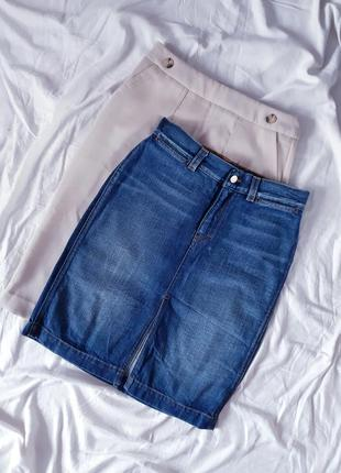 Трендова джинсова спідниці