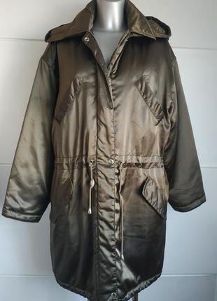 Стильная демисезонная куртка-парка  mexx золотистого цвета