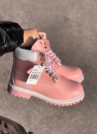 Ботинки женские   pink термо
