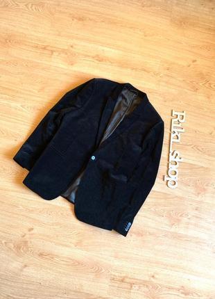 Велюровый бархатный пиджак на одной пуговице topman