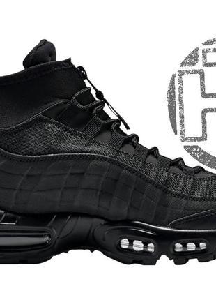 Мужские кроссовки nike air max 95 sneakerboot triple black 806...
