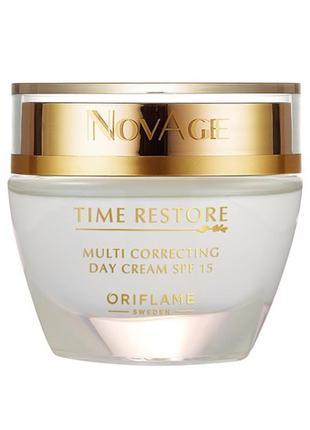 Омолаживающий дневной крем spf 15 novage time restore