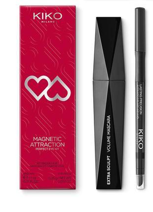 Набор для глаз тушь и карандаш kiko milano magnetic attraction...