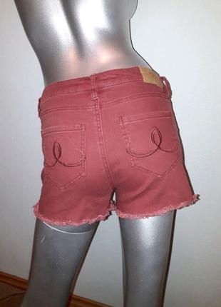 Шорты джынсовые бордовые, шортики на девочку, летние шорты FOX,32