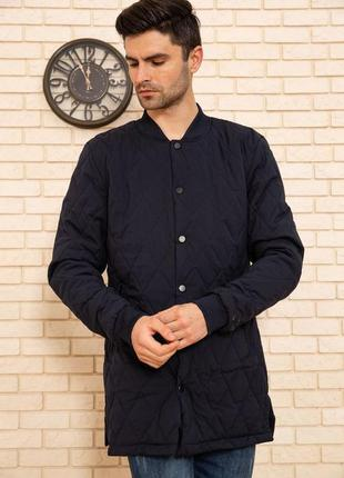 Стеганая мужская куртка, темно-синий