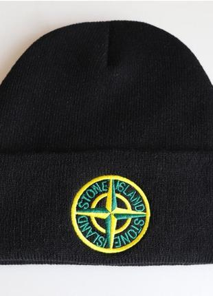 Шапка stone island original collection черная