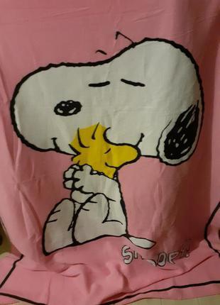 Плед флисовый snoopy peanuts