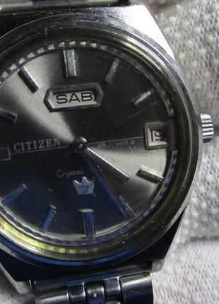 Citizen Chrystal Seven Japan Automatic часы мужские Редкие!