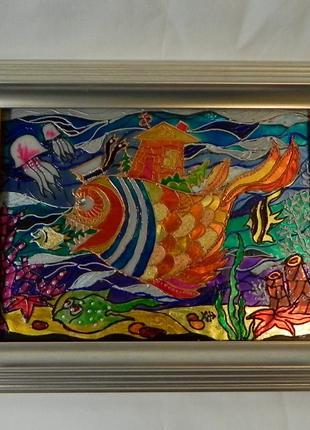 Витражная картина «Морская Душа»,