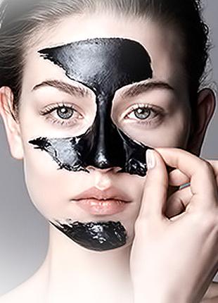 Черная маска для лица black mask cqk , 6 гр