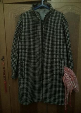 Актуальное пальто большого размера, пог 60-62 см. длина рукава...
