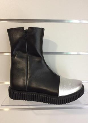 Кожаные демисезонные сапоги ботинки на девочку 31-36