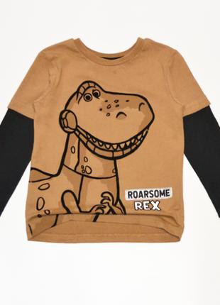 Реглан лонгслив с динозавром george на мальчика 2-3 года