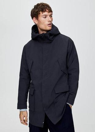 Мужская удлиненная парка pull&bear куртка
