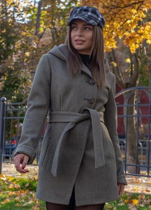 Демисезонное женское пальто ,пальто женское короткое с капюшон...