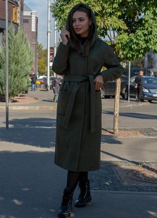 Женское длинное весеннее пальто демисезонное пальто