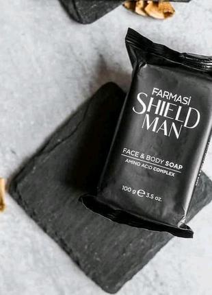 Чоловіче мило для обличчя та тіла Shield Man Amino Acid, 100 г