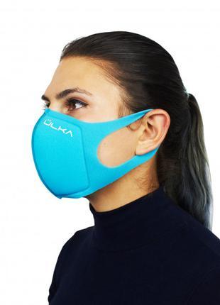 Модная многоразовая защитная угольная маска ULKA (Голубая)