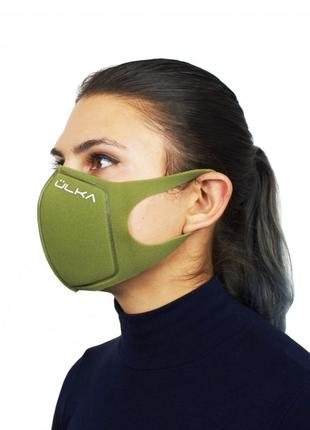 Модная многоразовая защитная угольная маска ULKA (Хаки)