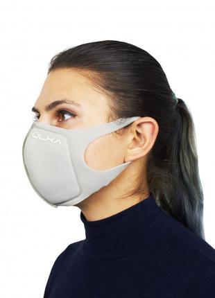 Модная Многоразовая Защитная Угольная Маска ULKA (Серая)