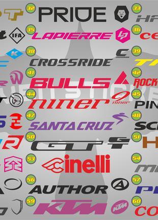 Наклейки на раму велосипеда