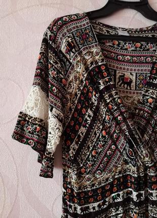 Платье со слонами, бохо стиль