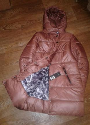 Женская зимняя теплая куртка - пуховик пальто парка распродажа