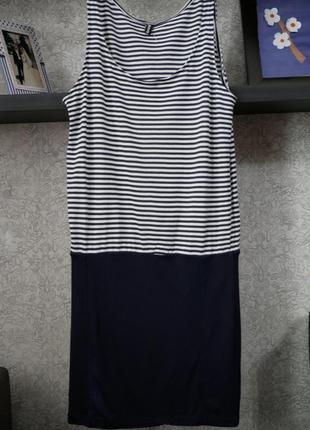 Стильное трикотажное летнее платье сарафан в морской тематике ...